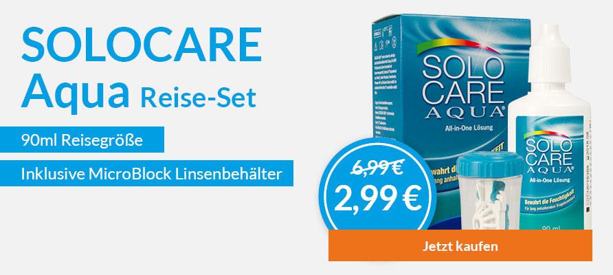 Solocare Aqua Reiseset mit 90ml bei meineLinse für 2,99€